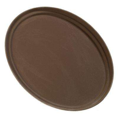 Griptite 25 in. x 19.25 in. Oval Tray in Tan (Case of 6)