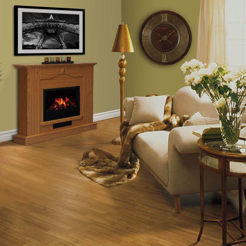 Quality Craft 47 in. Electric Fireplace in Golden Oak