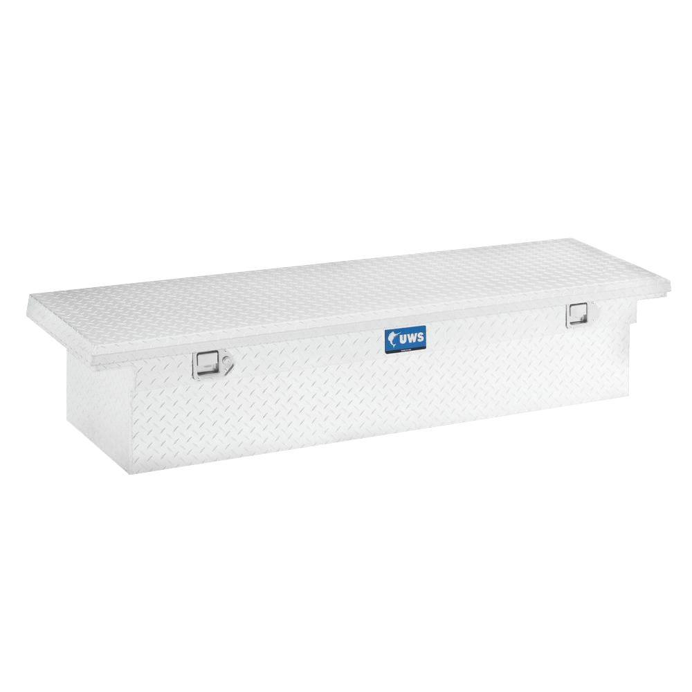UWS 63 in. Aluminum Single Lid Crossover Angled Tool Box with Low Profile