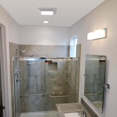 ENERGY STAR® Certified Snap-In Installation Quiet 50 CFM Bathroom Exhaust Fan with LED light
