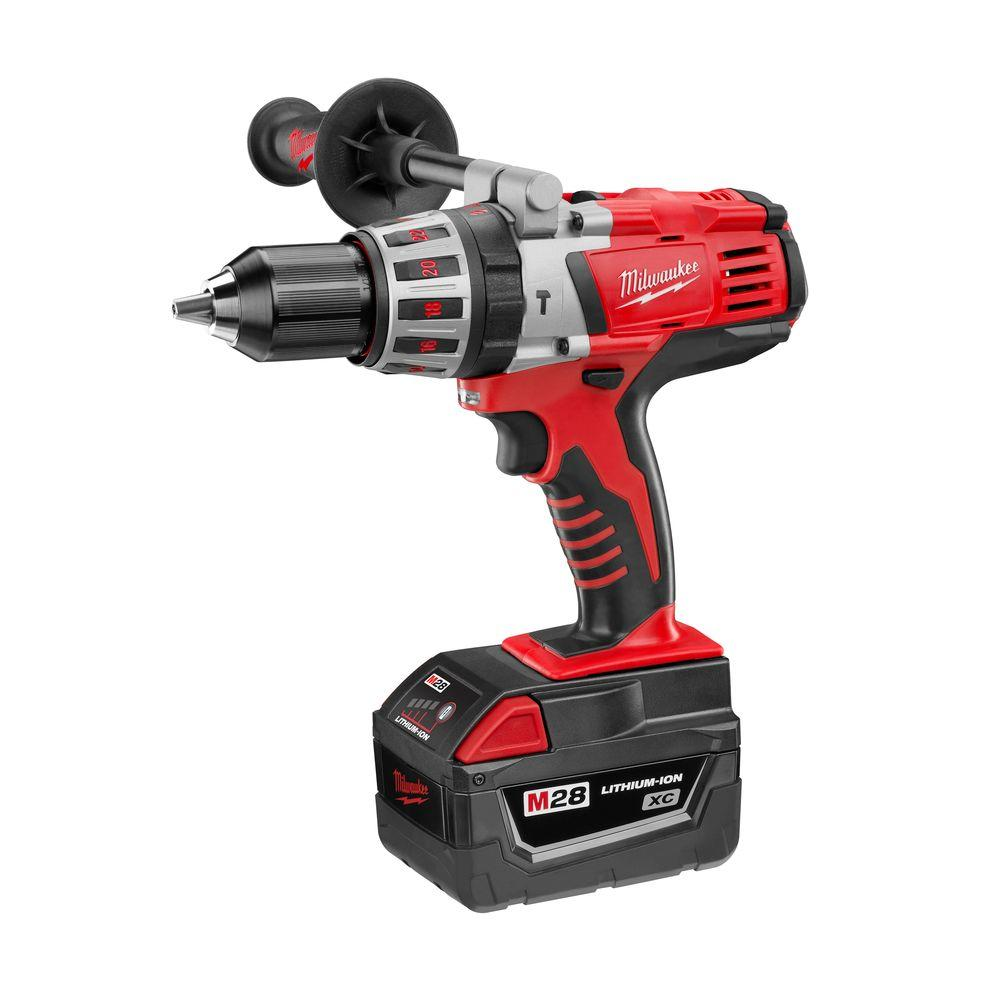 Milwaukee M28 28-Volt Lithium-Ion 1/2 in. Cordless Hammer Drill Kit
