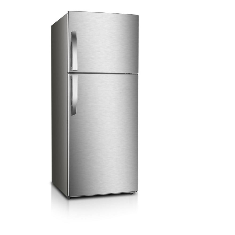 PREMIUM 10 cu. ft. Frost Free Top Freezer Refrigerator in Stainless Steel