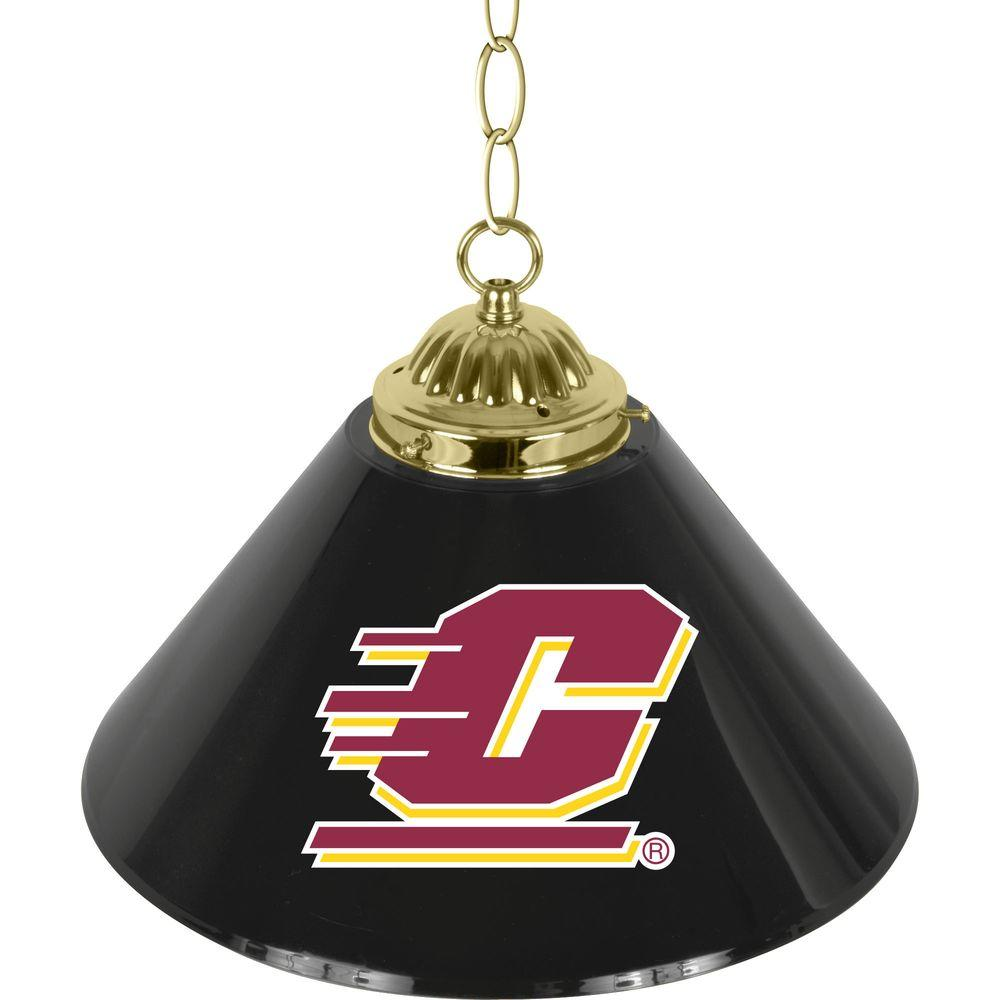 Central Michigan University 14 in. Single Shade Brass Hanging Lamp