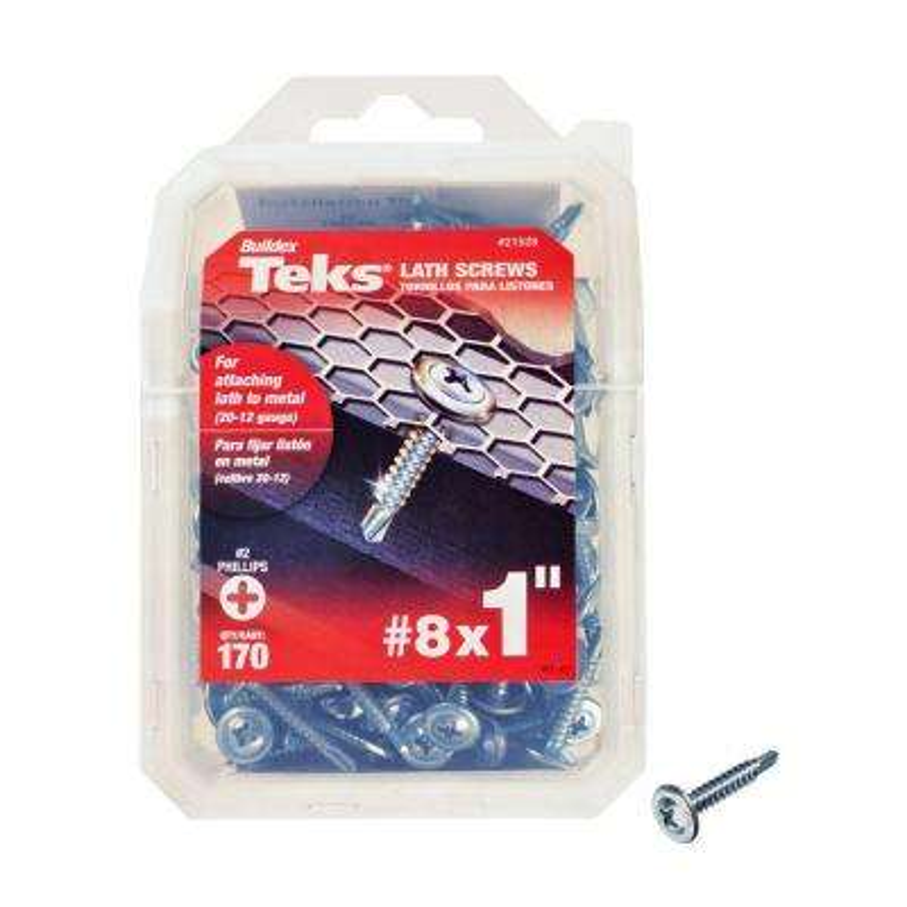 #8 x 1 in. Phillips Fine Zinc-Plated Steel Truss-Head Drill Point Lath Screws (170-Pack)