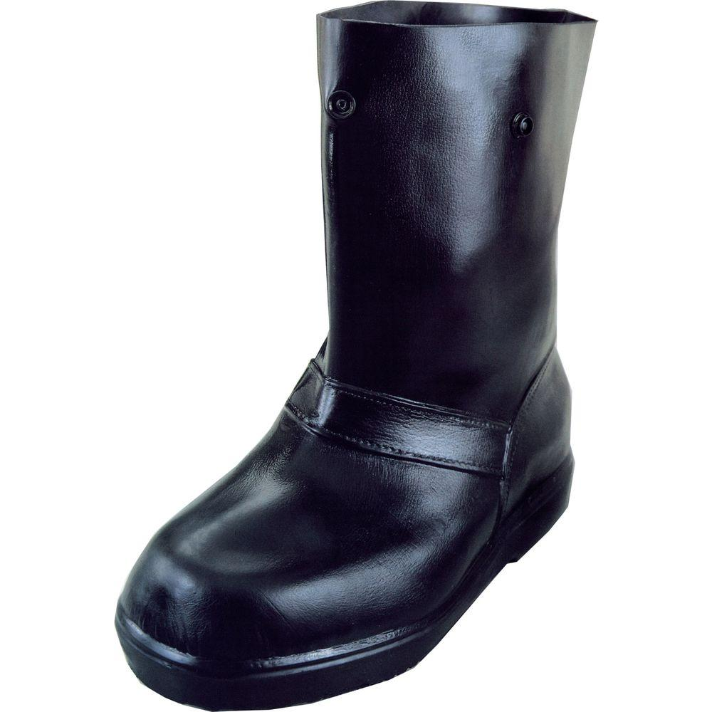 12 in. Men Small 5-7 Black Rubber Over-the-Shoe Boots, Size 6-7