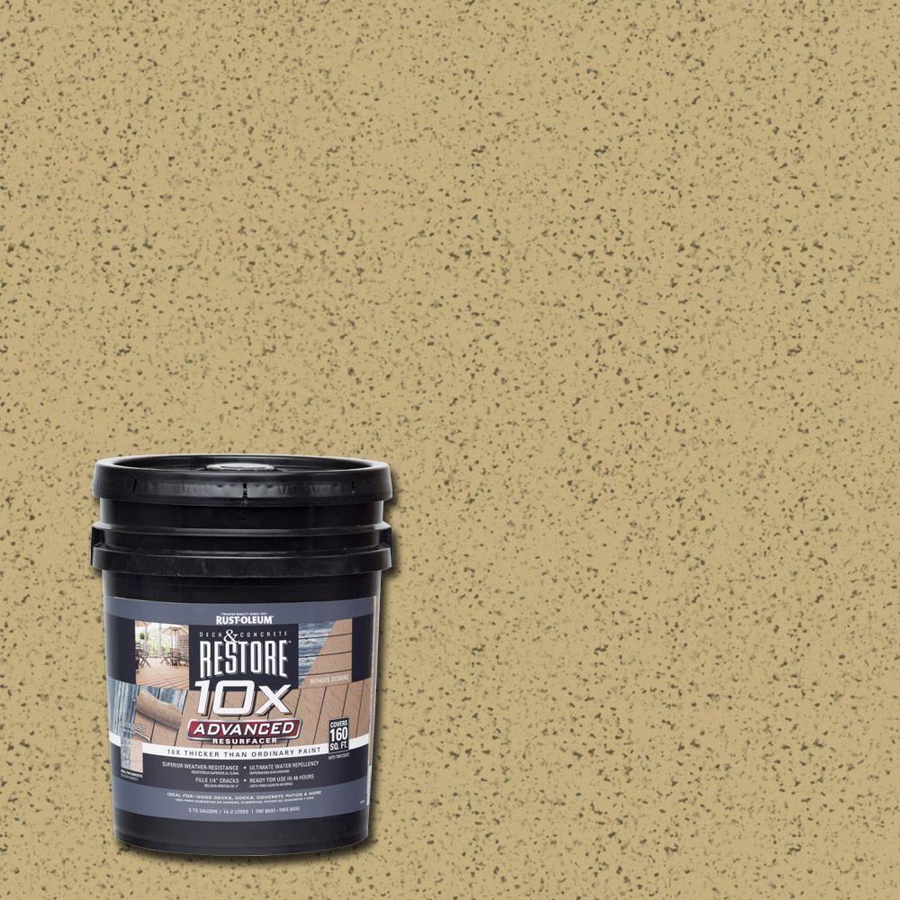 Rust-Oleum Restore 4 gal. 10X Advanced Camel Deck and Con...