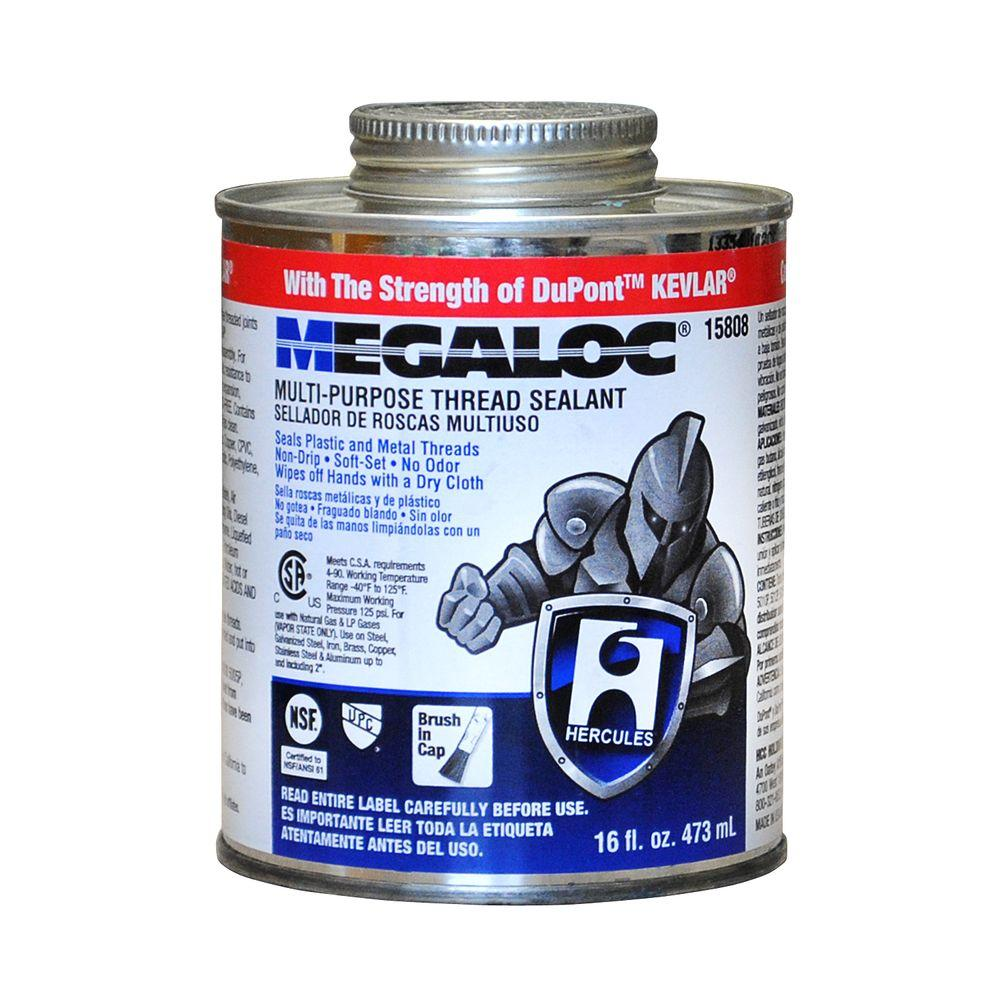 Multi-Purpose Thread Sealant  sc 1 st  The Home Depot & Hercules Megaloc 16 oz. Multi-Purpose Thread Sealant-15808 - The ...