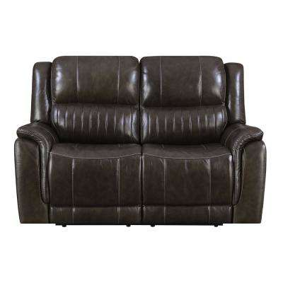Brown Hearst Power Reclining Loveseat with Power Headrests