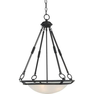 Stratus 4-Light Bronze Invert Bowl Pendant