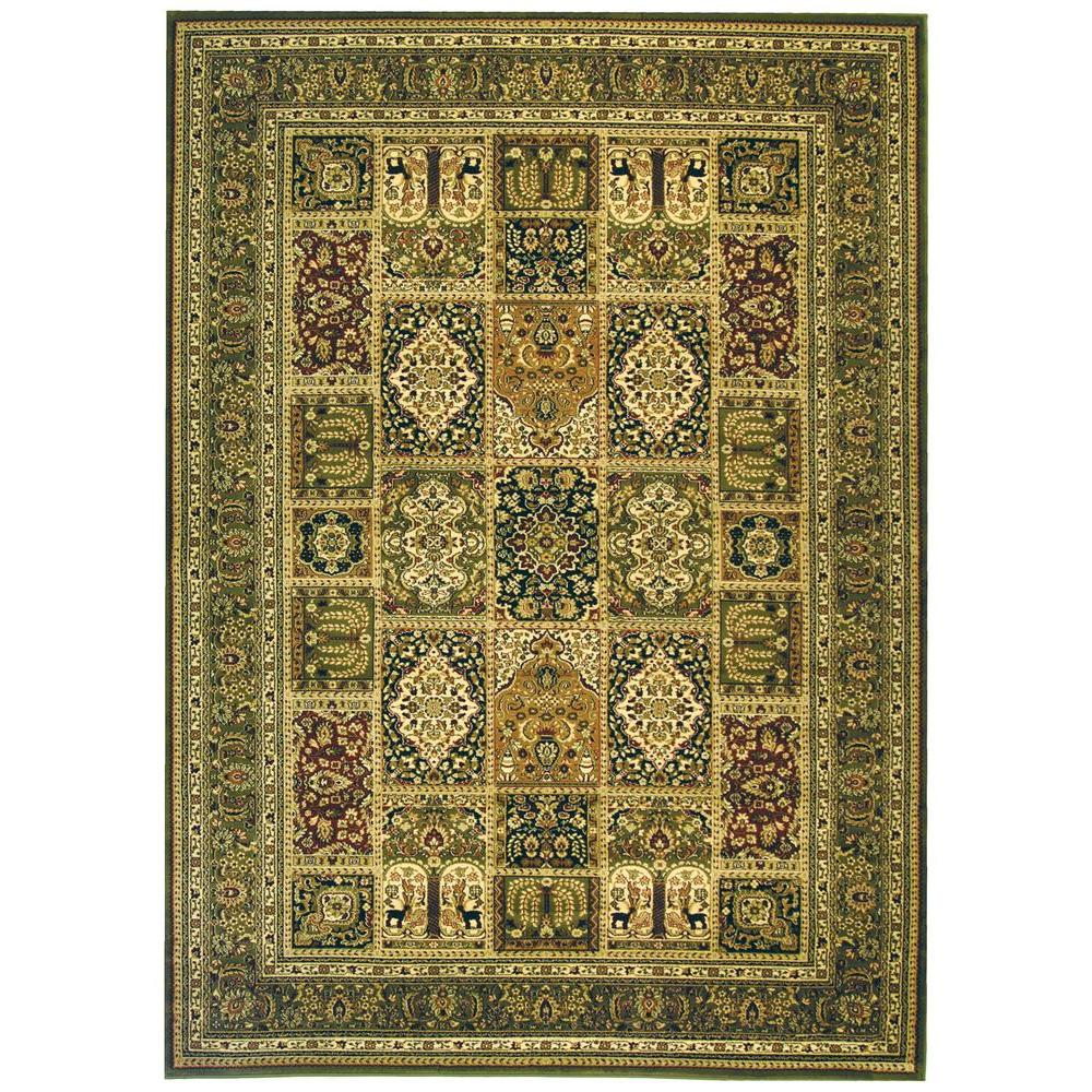 Safavieh Lyndhurst Multi/Green 8 ft. 11 in. x 12 ft. Area Rug