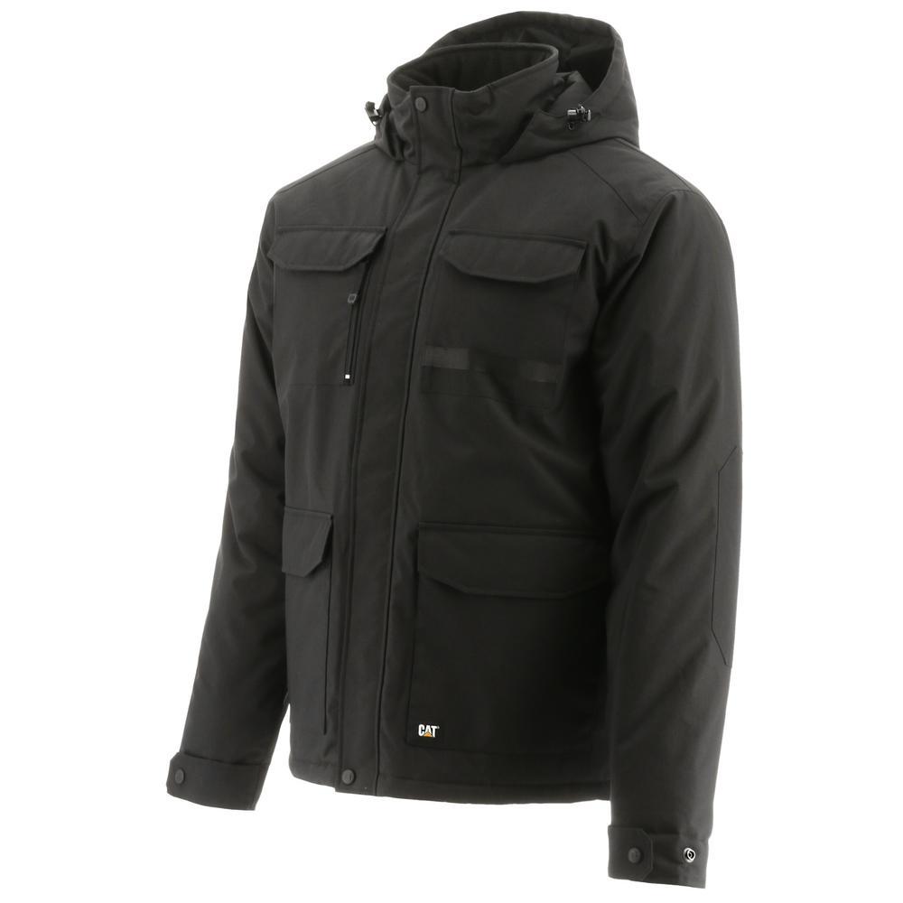 Caterpillar Bedrock Men's Oxford Water Resistant Insulated Jacket (Black)