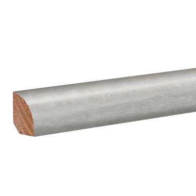 Striated Stone Grey .62 in. Thick x 0.79 in. Wide x 94.5 in. Length Vinyl Quarter Round Molding