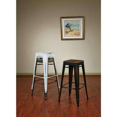 Antique Metal Barstool In Lime Finish 2 Pack
