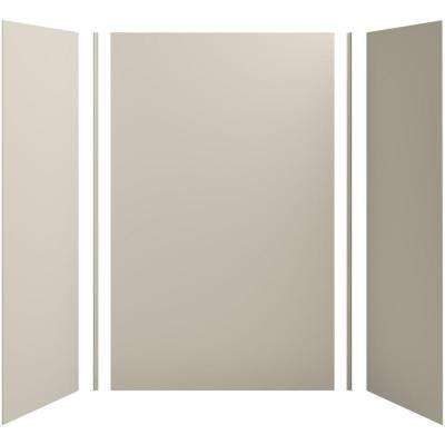 Choreograph 60in. X 32 in. x 96 in. 5-Piece Shower Wall Surround in Sandbar for 96 in. Showers