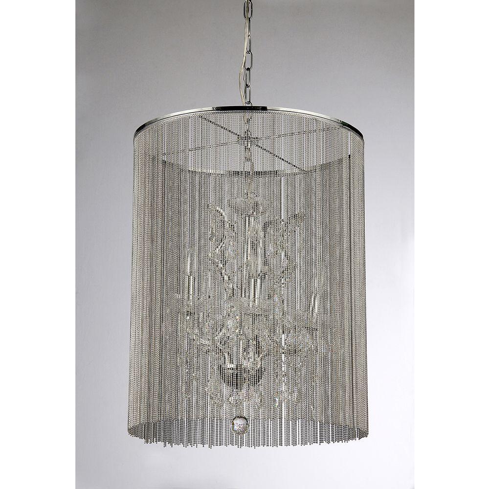 Warehouse Of Tiffany Rosalias Modern Cage 6-Light Chrome