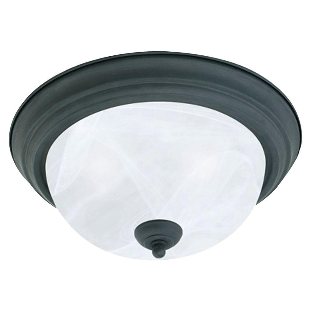Thomas Lighting 3-Light Flush Bronze Florentine Ceiling Fixture-DISCONTINUED