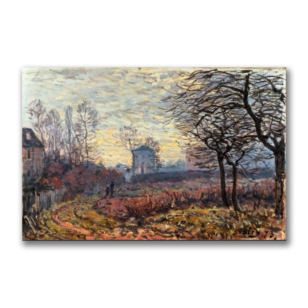 Trademark Fine Art 22 in. x 32 in. Landscape Near Louveciennes Canvas Art