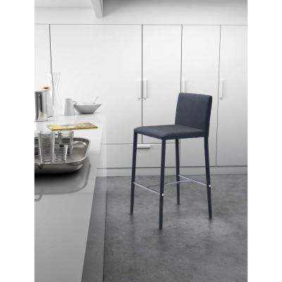 Confidence 26 in. Black Cushioned Bar Stool