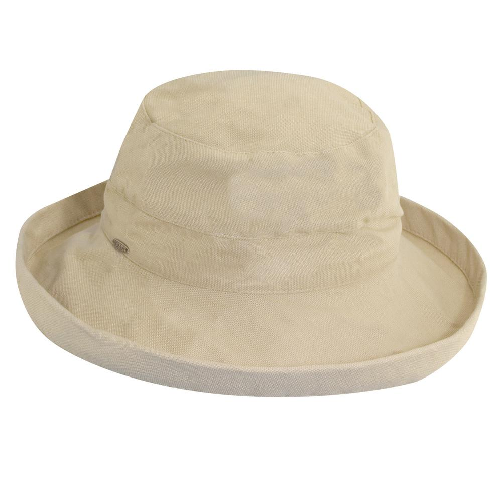 Scala Med Brim Cotton Hat-LC484-NAT - The Home Depot 9700de2267d