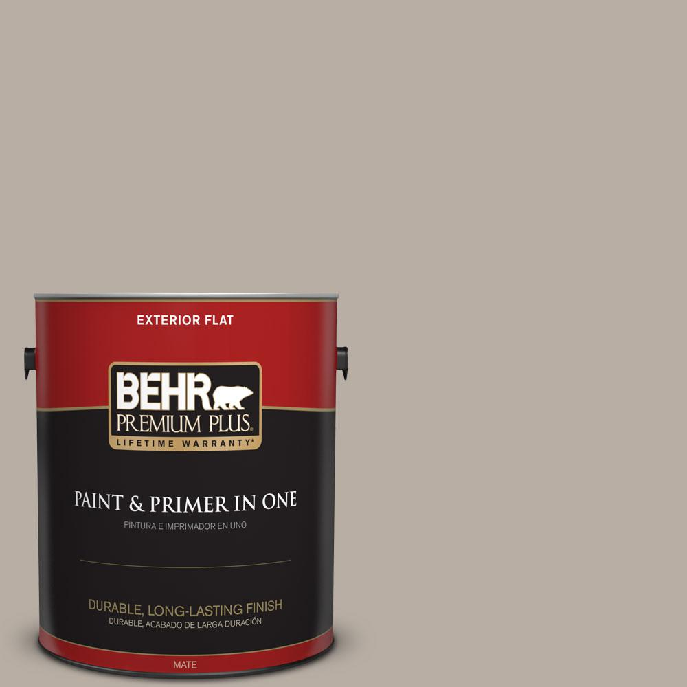 BEHR Premium Plus 1-gal. #N200-3 Nightingale Gray Flat Exterior Paint