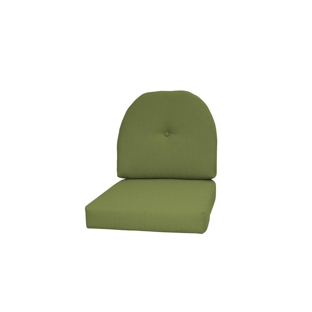 Paradise Cushions Sunbrella Kiwi 2-Piece Wicker Outdoor C...