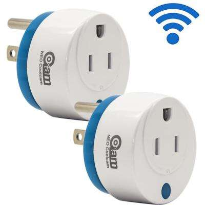 Mini Round Wi-Fi Smart Plug Works with Alexa and Google Home for Voice Control Save Energy and Electric Bill (2-Pack)