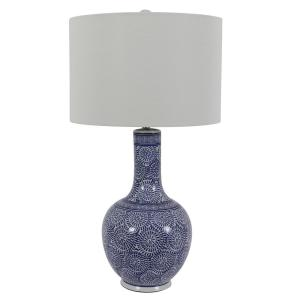 3bd9692ef7ef Elegant Designs 20.13 in. Juliet Ceramic Table Lamp with Metallic ...