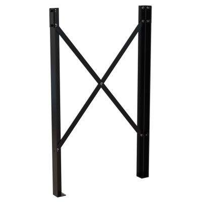 3.25 in. x 57.75 in. x 3.6562 in. Black Powder Coat Steel Leg Pair for Modular Work Platform