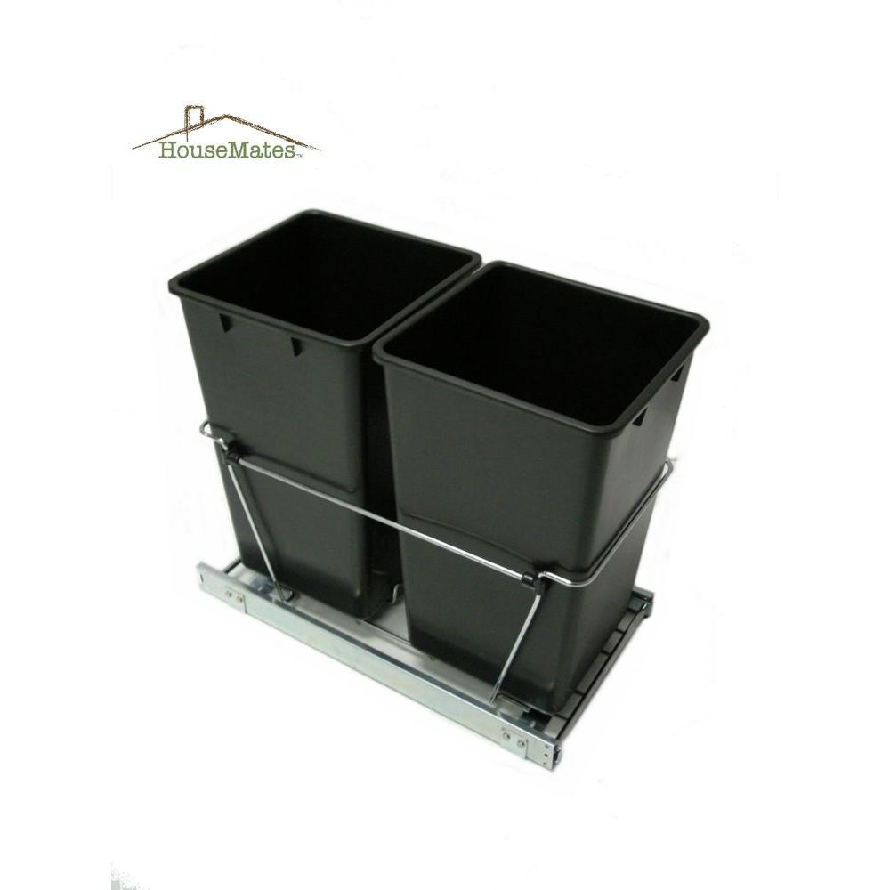 House-Mate 27 qt. Easy Pull Double Trash Slide Caddy-DISCONTINUED