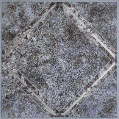 Tivoli Metallic Marble 12 in. x 12 in. Peel and Stick Diamond Pattern Vinyl Tile (45 sq. ft. / case)