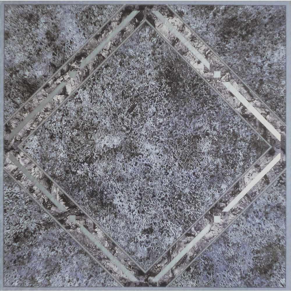 Tivoli Metallic Marble 12 in. x 12 in. Peel and Stick Diamond Pattern Vinyl Tile (45 sq. ft. / case)