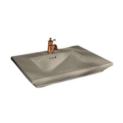Memoirs 5 in. Ceramic Pedestal Sink Basin in Sandbar with Overflow Drain