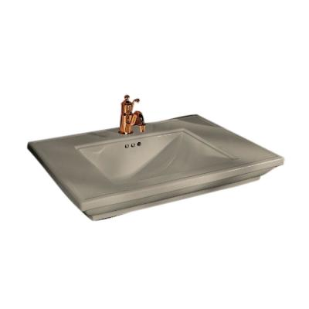 Memoirs 5 in. Ceramic Pedestal Sink Basin in Sandbar with Overflow Drain