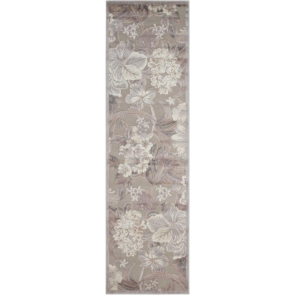 Nourison Graphic Illusions Grey 2 ft. x 8 ft. Runner Rug