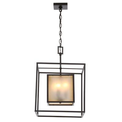 Hilden Collection 4-Light Aged Bronze Hanging Pendant