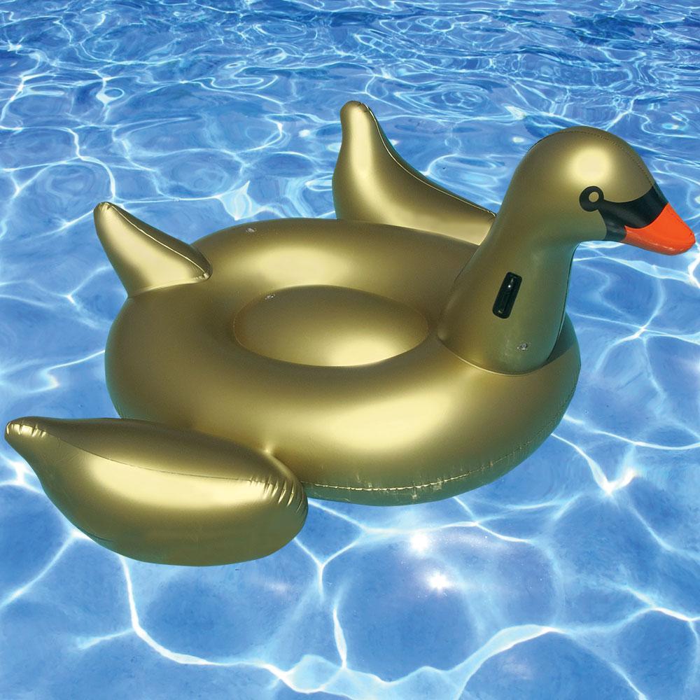 Giant Golden Goose Pool Float