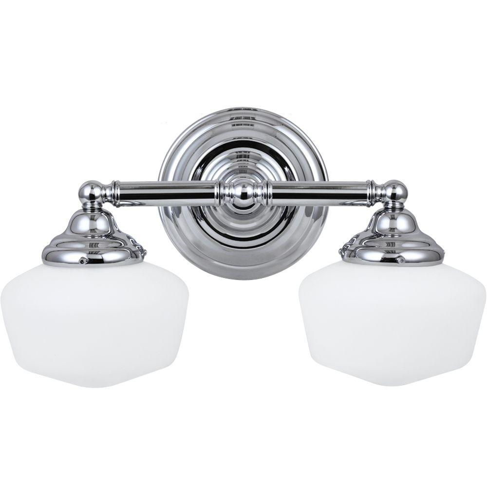 Academy 2-Light Chrome Vanity Light