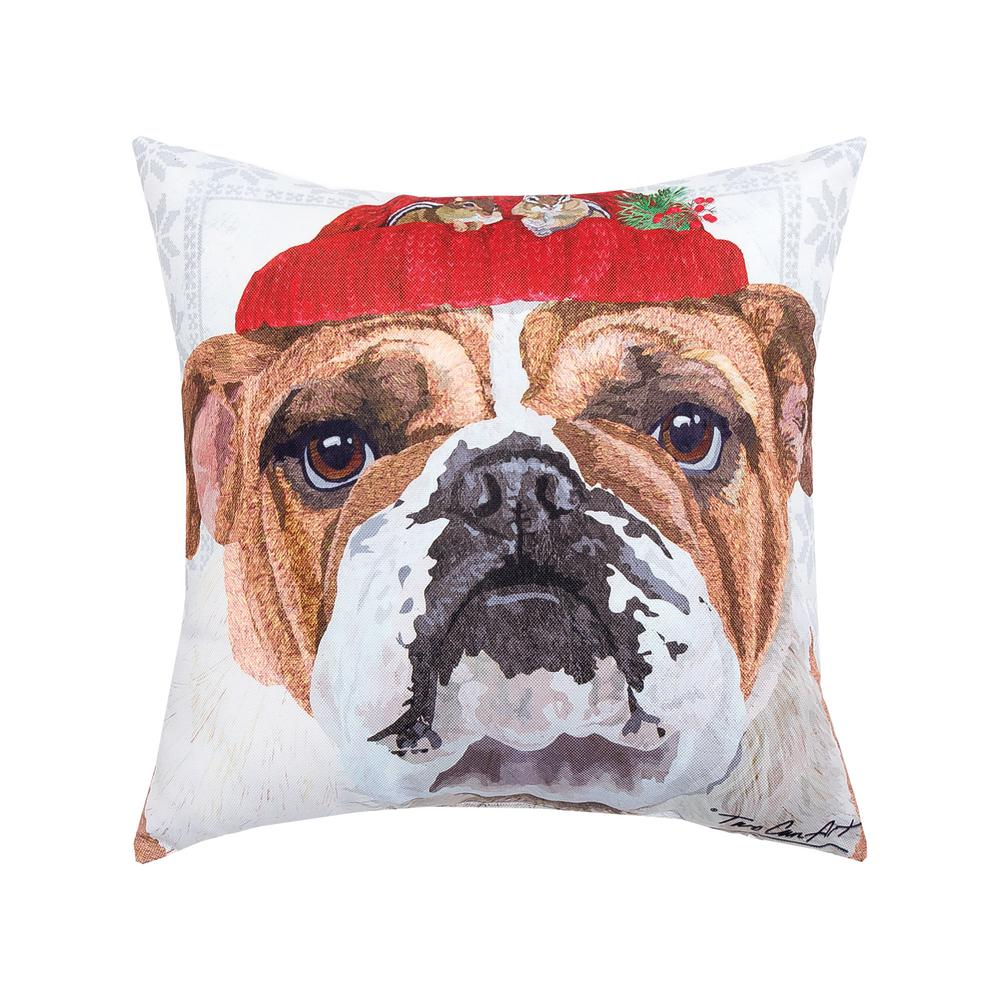 C/&F Home Winter Hat Bulldog Pillow 85145087B