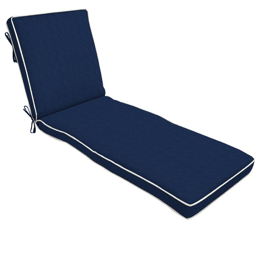 22 x 74 Sunbrella Spectrum Indigo Outdoor Chaise Lounge Cushion