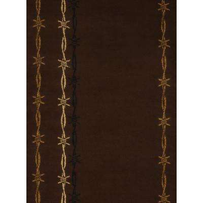 Affinity Barbwire Brown 7 ft. 10 in. x 10 ft. 6 in. Area Rug