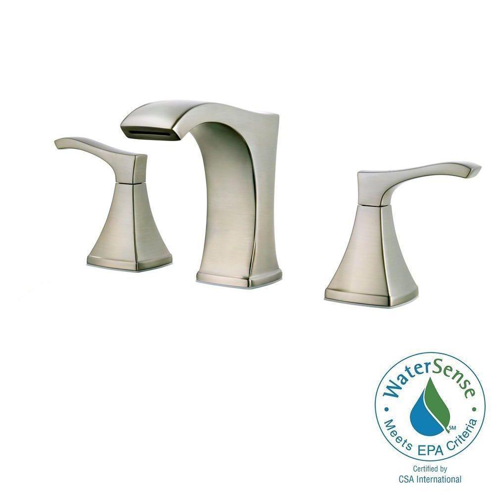 Venturi 8 in. Widespread 2-Handle Bathroom Faucet in Brushed Nickel