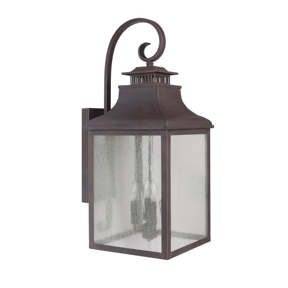 Morgan 4-Light Rustic Bronze Outdoor Wall Mount Lantern  sc 1 st  Nextag & Rustic lantern wall sconce | Lighting | Compare Prices at Nextag