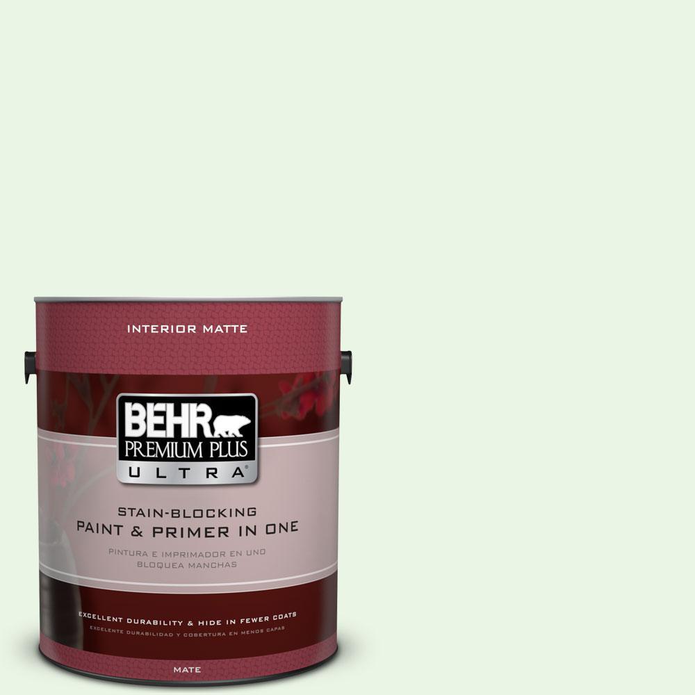 1 gal. #430A-1 Mint Hint Flat/Matte Interior Paint