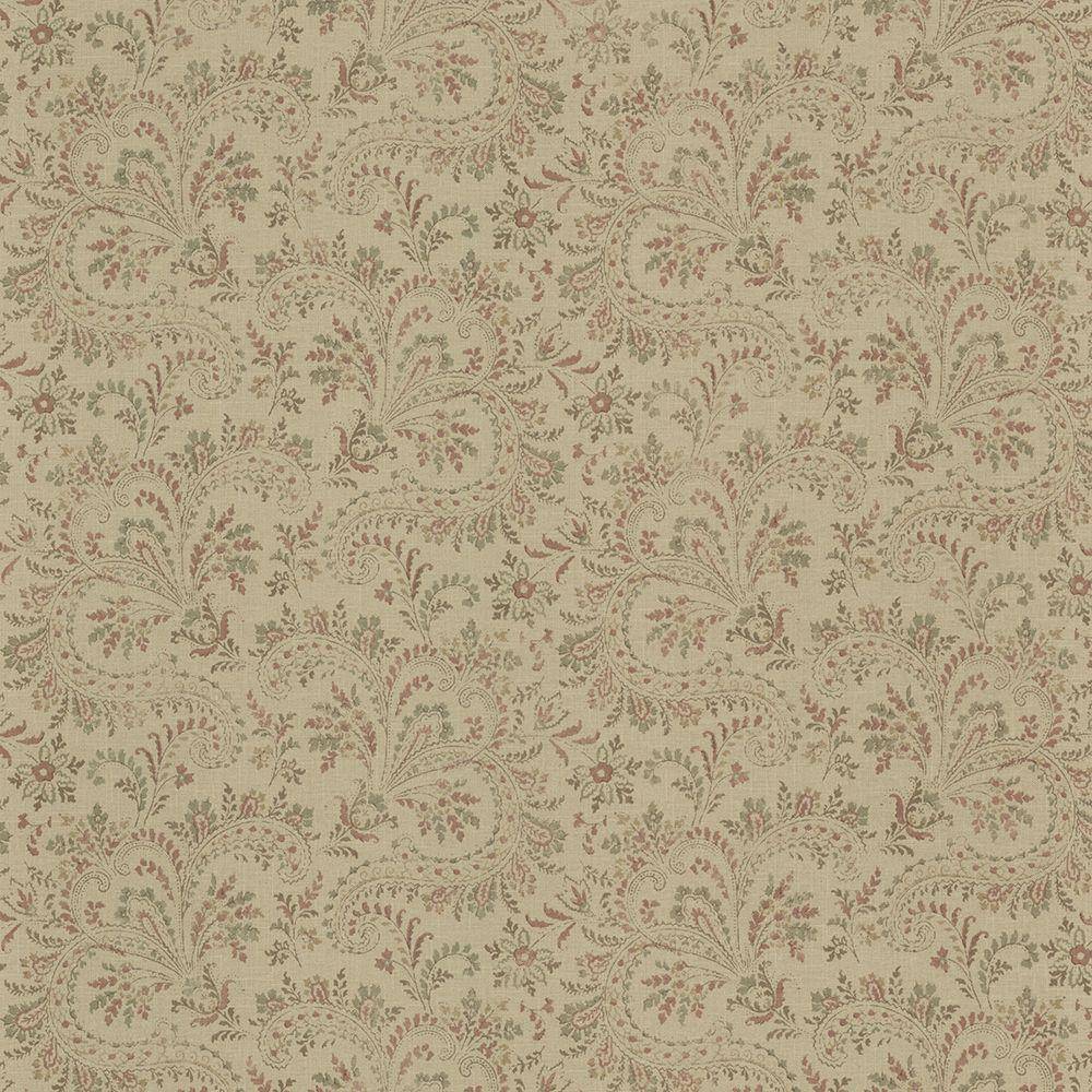Sycamore Sage Paisley Wallpaper