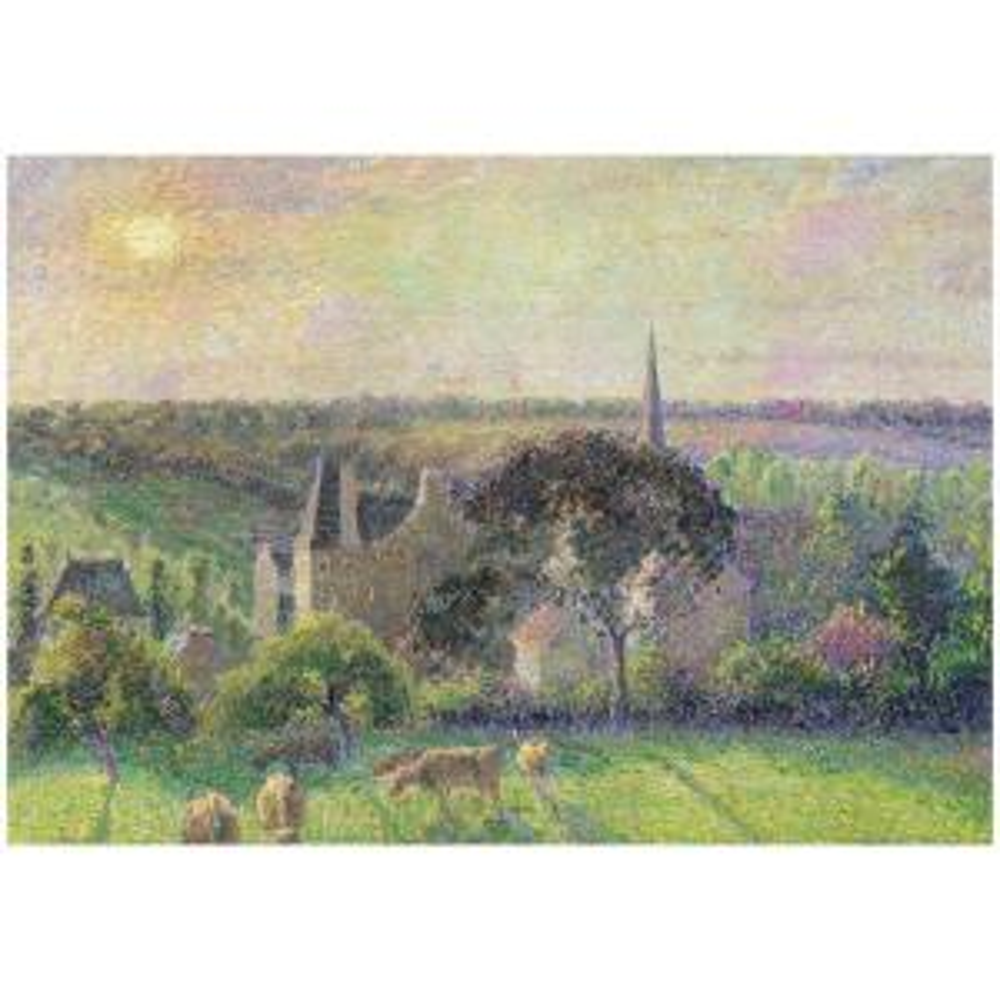Trademark Fine Art 26 inch x 32 inch The Church and Farm of Eragny 1895 Canvas Art by Trademark Fine Art