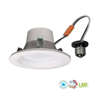 Wink Compatible 4 in. 65w Equivalent White LED Smart Recessed Trim with Color Tunable Feature (2700K to 5000K)
