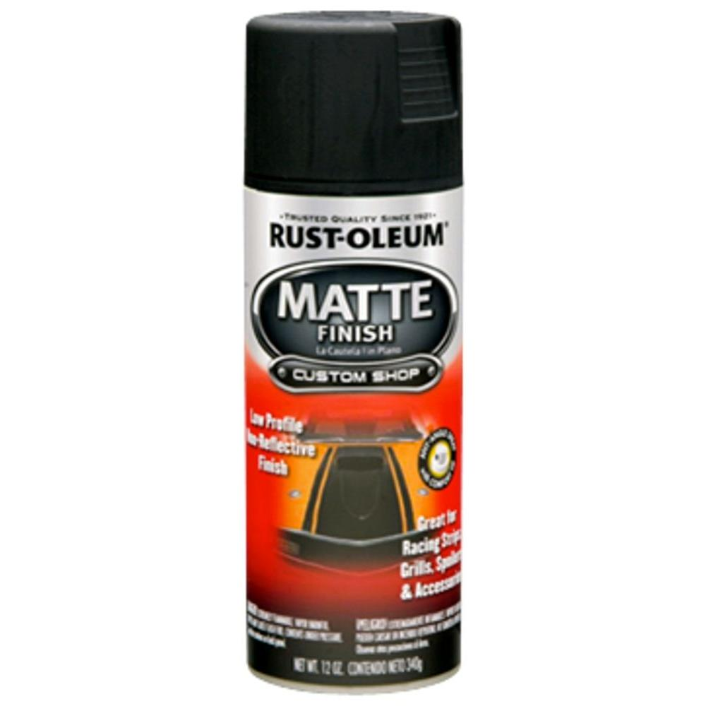 Rust-Oleum Automotive 12 oz  Black Matte Finish Spray Paint (6-Pack)