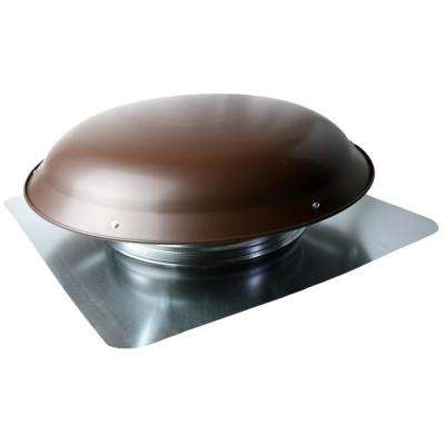 25 in. x 10 in. Galvanized Steel Static Roof Vent in Brown