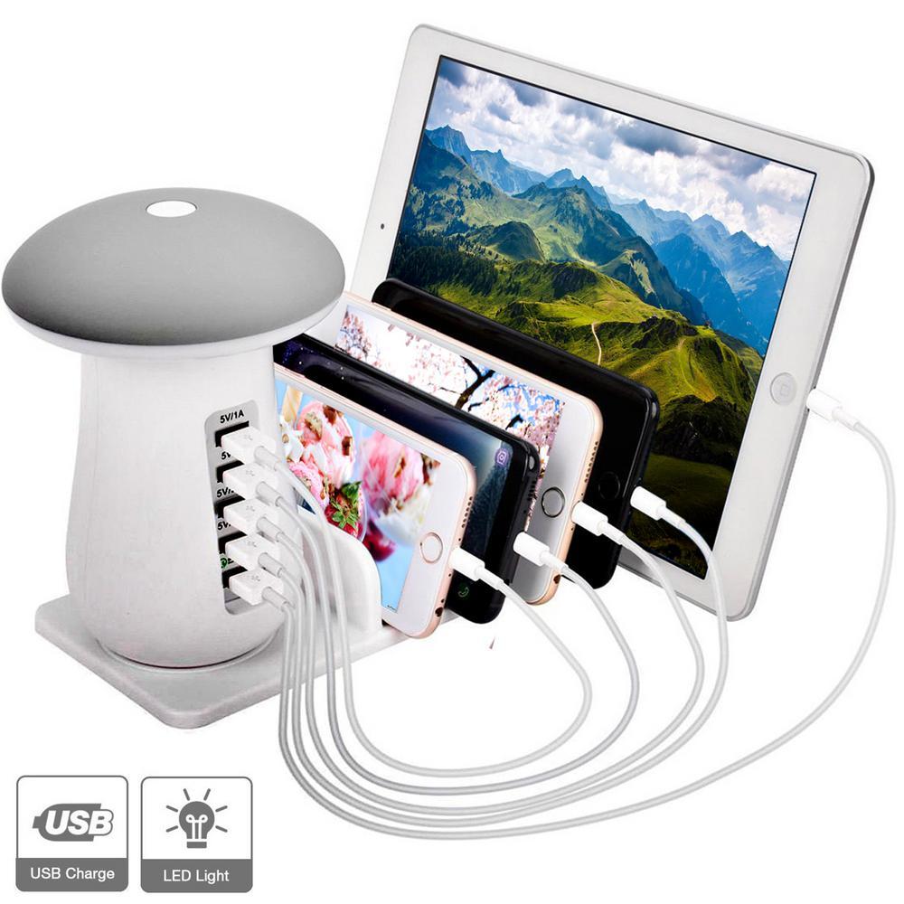 6 Amp 5-Port USB Charging Station