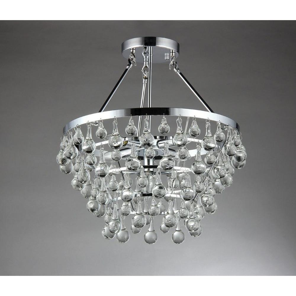 Eleanor 5-Light Chrome Crystal Chandelier